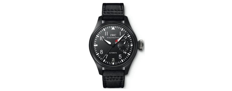 IWC Big Pilot Black Dial Automatic Power Reserve Watch