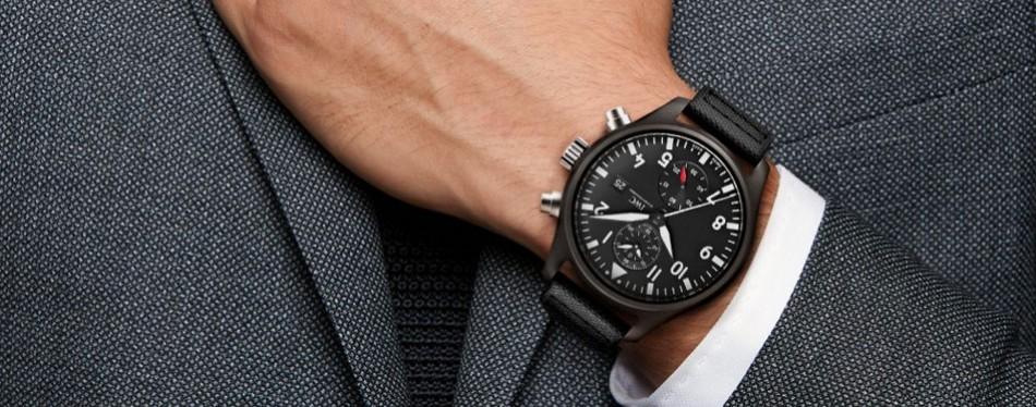 IWC Pilot's Top Gun Automatic Chronograph Mens Watch