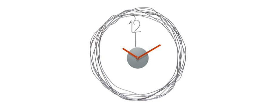 Infinity Instruments Wire Transfer Wall Clock