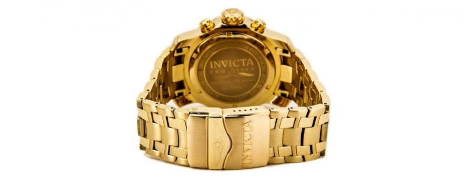 Invicta Men's 0072 Pro Diver Collection Chronograph 18k Gold-Plated