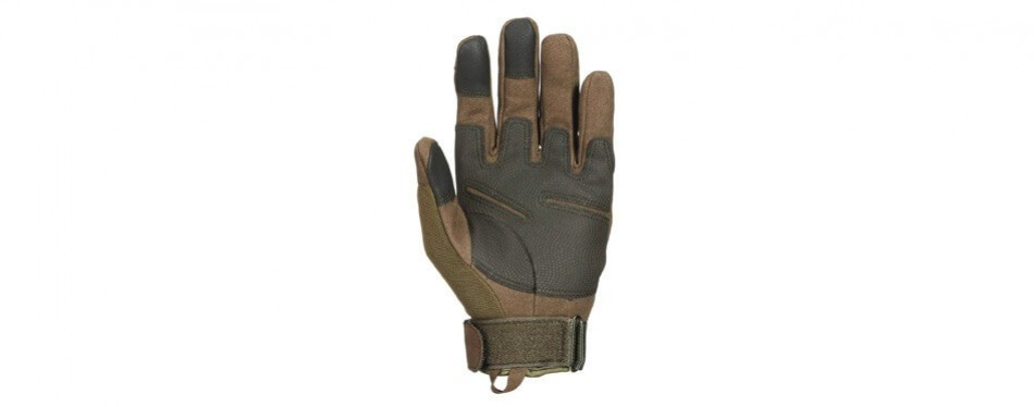 JIUSY Touch Screen Compatible Military Rubber Knuckle Gloves