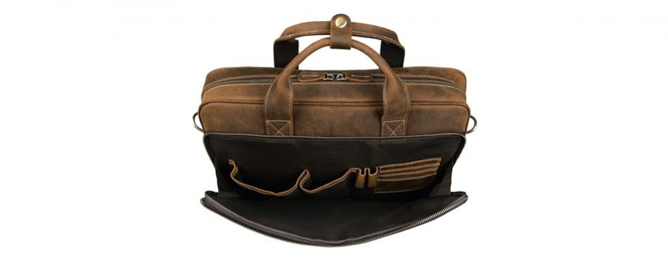 Jack & Chris Genuine Leather Laptop Bag for Men