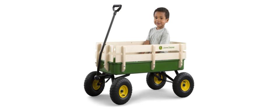 John Deere Steel Stake Wagon For Kids