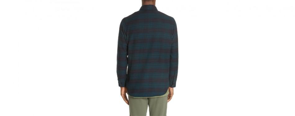 John Elliott Plaid Flannel Shirt