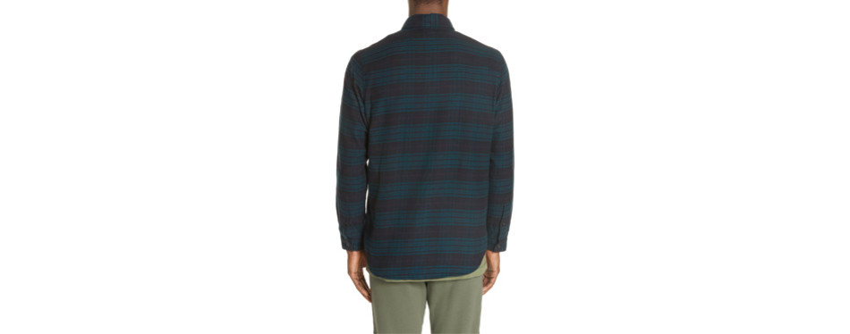 John Elliott Plaid Flannel Shirt