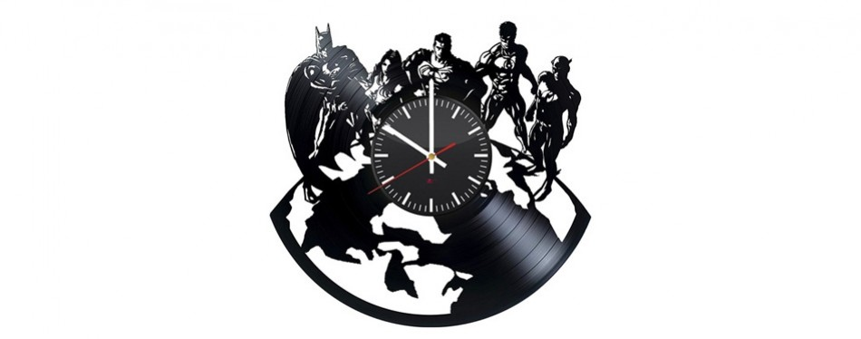 Justice League Handmade Vinyl Wall Clock