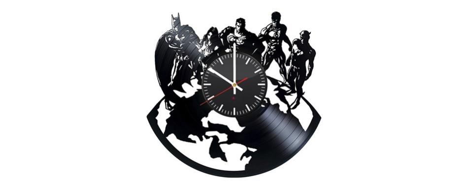 Justice League Handmade Vinyl Wall Clock