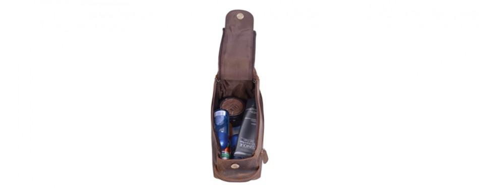 KOMALC Buffalo Leather Dopp Kit