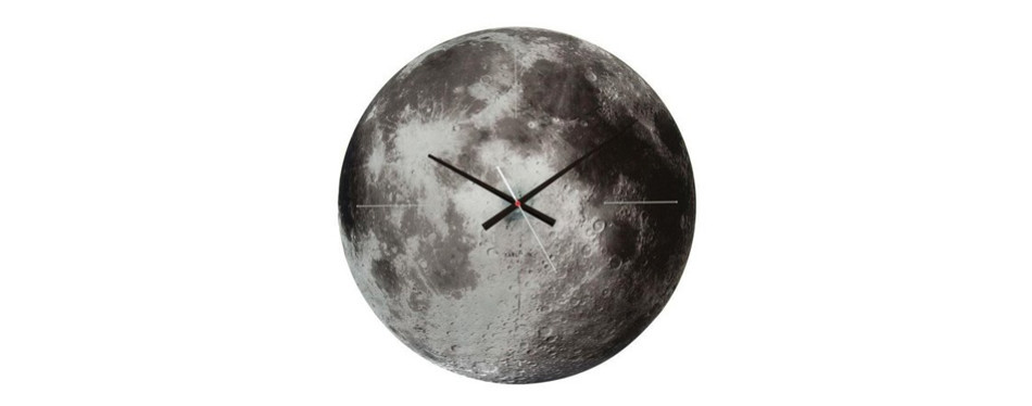 Karlsson Present Time Moon Glass Wall Clock