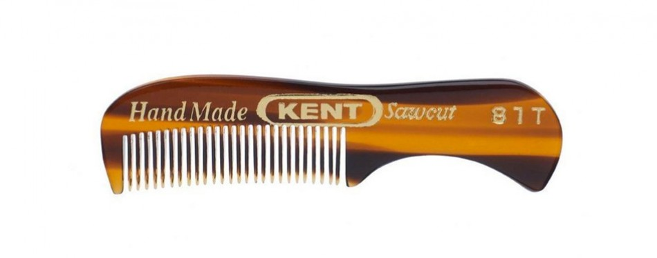 Kent Hand Made Moustache and Beard Comb