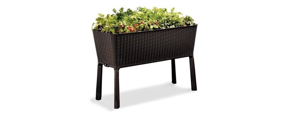 keter easy grow patio garden planter