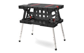 Keter Folding Compact Adjustable Workbench 700 lb Capacity