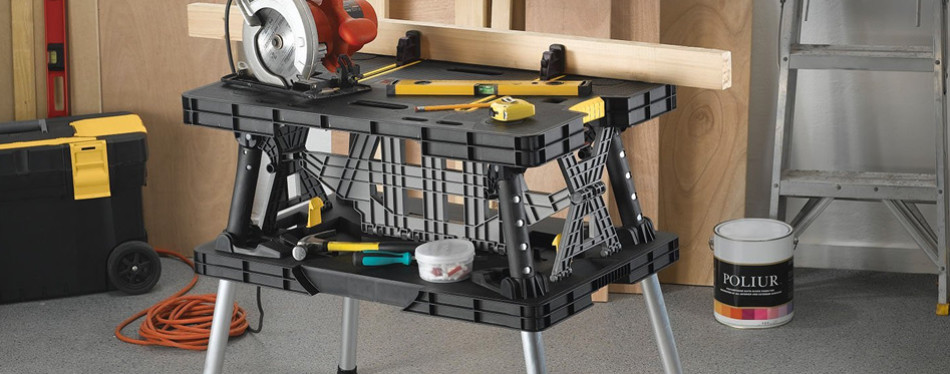 Keter Folding Compact Portable Workbench
