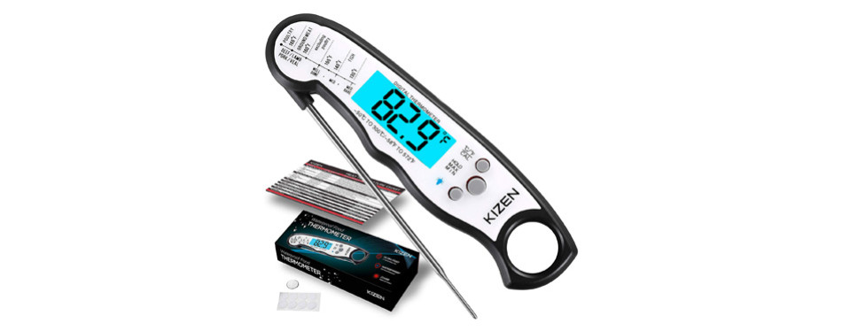 Kizen Instant Read Ultra Fast Meat Thermometer