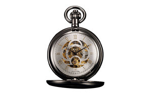 Kronen Soehne Full Hunter Skeleton Front Pocket Watch