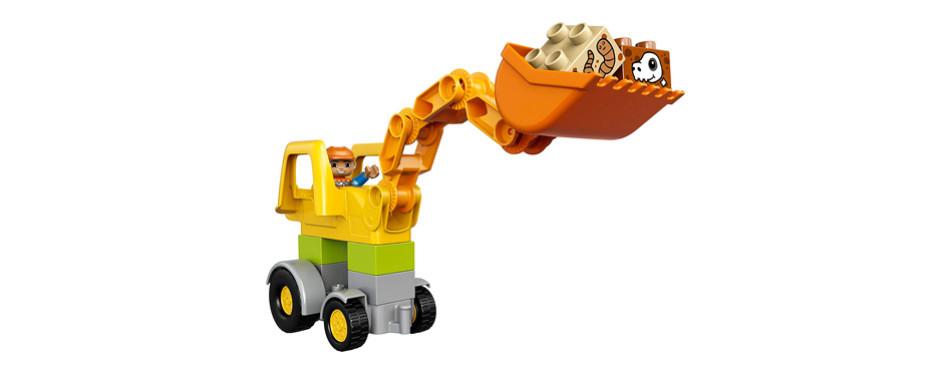 LEGO DUPLO Town Backhoe Loader Construction Toy