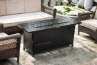 legacy heating 56-inch outdoor propane gas aluminum fire pit table