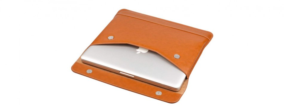 Lention Split Leather Laptop Sleeve
