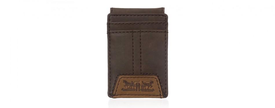 Levi's Men's Slim Fit Front Pocket Wallet