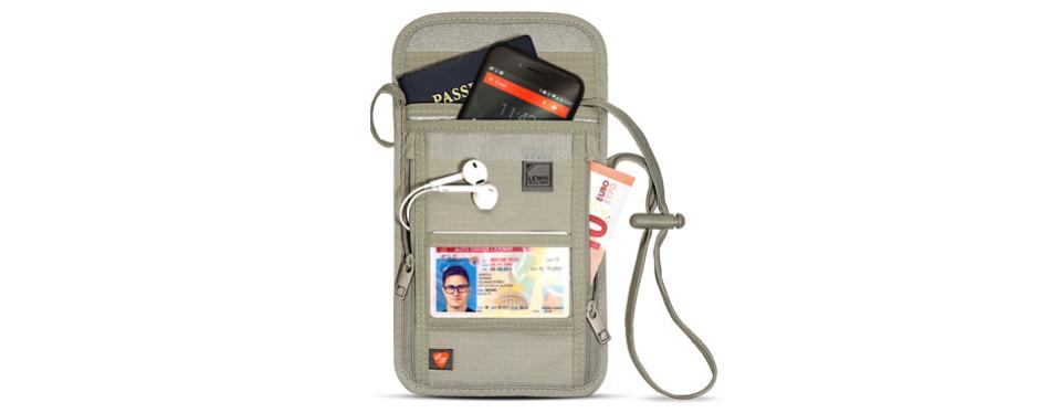 Lewis N. Clark RFID Blocking Stash Travel Wallet