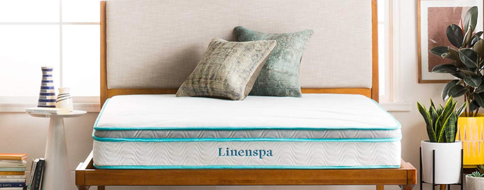 "Linenspa 8"" Innerspring Hybrid Memory Foam Mattresses"