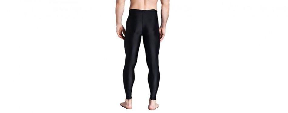 Lynddora Men's Active Fitness Leggings Running Tights Yoga Pants