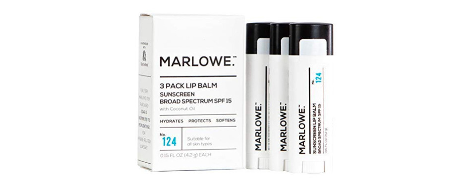 MARLOWE. No. 124 Lip Balm 3-Pack with Sunscreen SPF 15