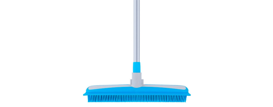 MR.SIGA Soft Bristle Rubber Broom