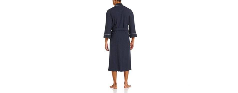 Majestic International Waffle-Knit Kimono Spa Men's Robe