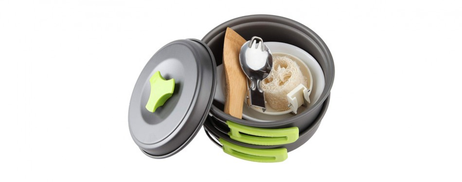 MalloMe Camping Cookware Mess Kit
