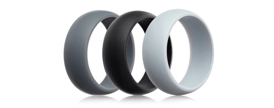 Men's Silicone Wedding Ring Wedding Band