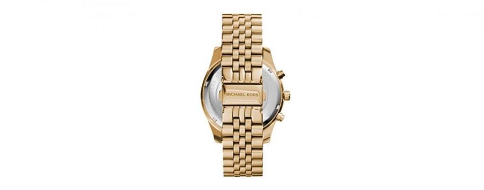 Men's Michael Kors Lexington Gold-Tone Stainless Steel Watch