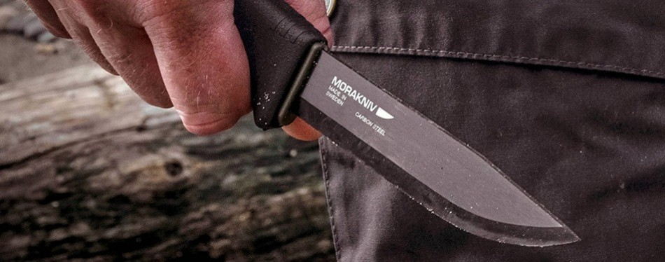 Morakniv Carbon Fixed Blade Bushcraft Knife
