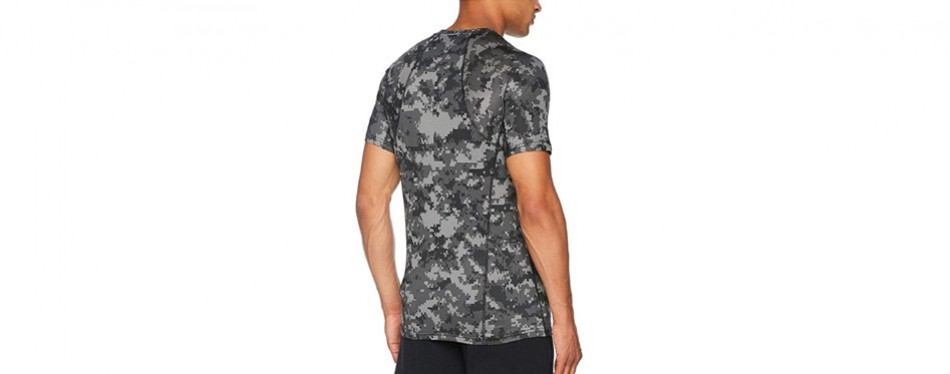 NIKE Men's Hypercool SS Fitted Camo Training Top