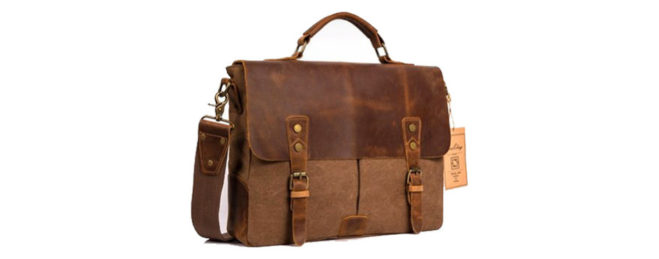NiceEbag Leather Briefcase