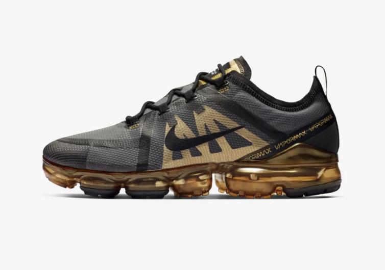 Nike Air Vapormax 2019 Black & Metallic Gold