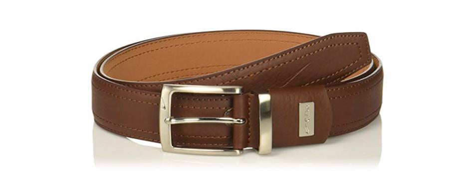 Nike G-Flex Pebble Grain Leather Belt