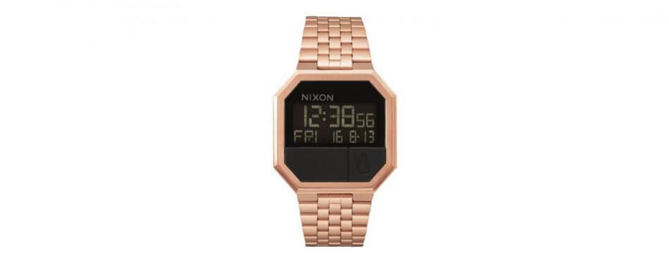 Nixon Re-Run Water Resistant Rose Gold Watch