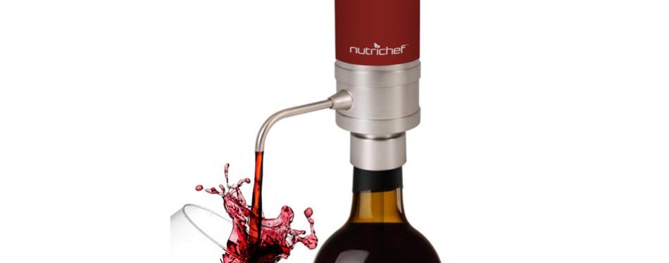 Nutrichef Electric Wine Aerator Dispenser