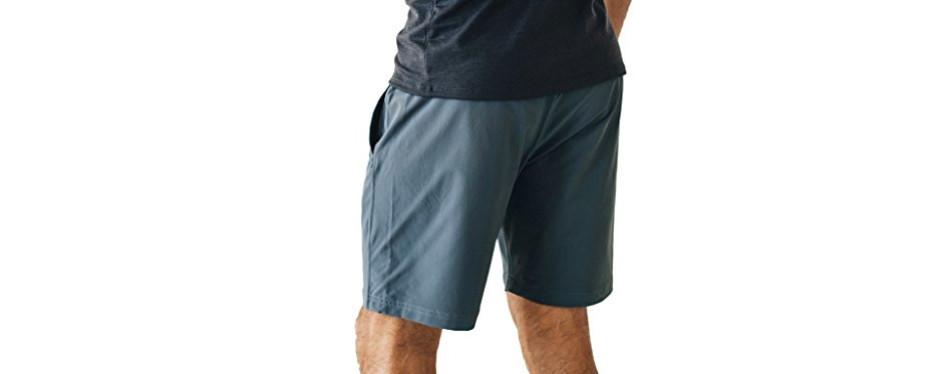 OLIVERS Apparel Water Repellent Men's Yoga Shorts
