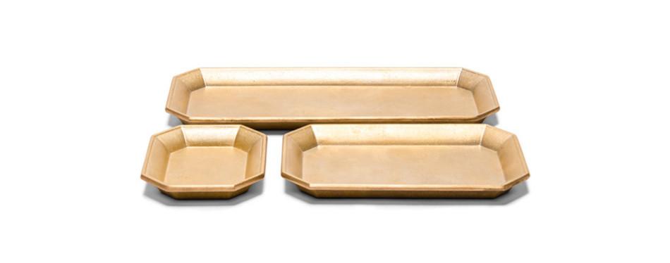 Oji Masanori set of Brass Desk Trays