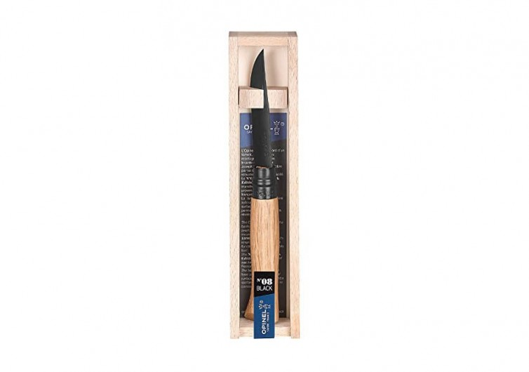 Opinel Folding Studio Black Oak Pocket Knife