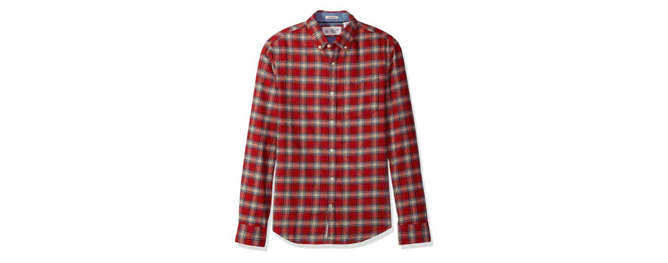 Original Penguin Men's Plaid Dress Flannel Shirt