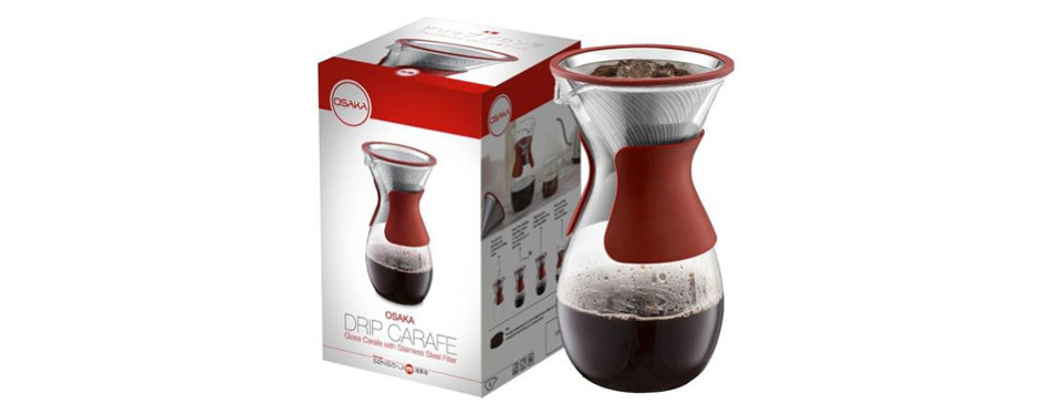 Osaka Pour Over Coffee Maker with Reusable Stainless-Steel Drip Filter