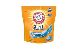 arm & hammer 2 in 1 laundry detergent power paks