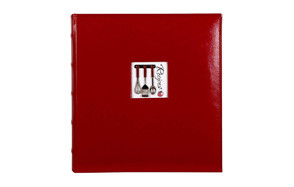 c.r. gibson red leather recipe binder