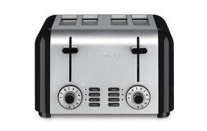 cuisinart cpt 340 compact stainless 4 slice toaster