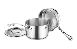 cuisinart fct1113 18 french classic tri-ply stainless 3-piece saucepan & double boiler set