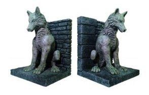 game of thrones dire wolf bookend