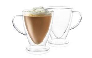 joyjolt declan irish double wall insulated glass coffee cups